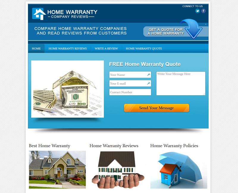 Home Warranty Orange County Web Design Stark Logic