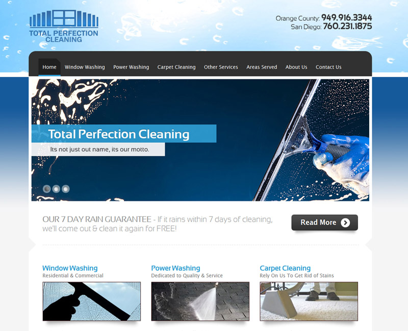 Total Perfection Cleaning Orange County Web Design