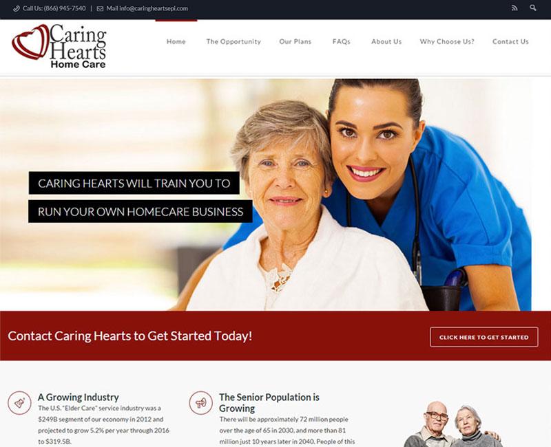 Caring Hearts Home Care - Orange County Web Design | Stark Logic