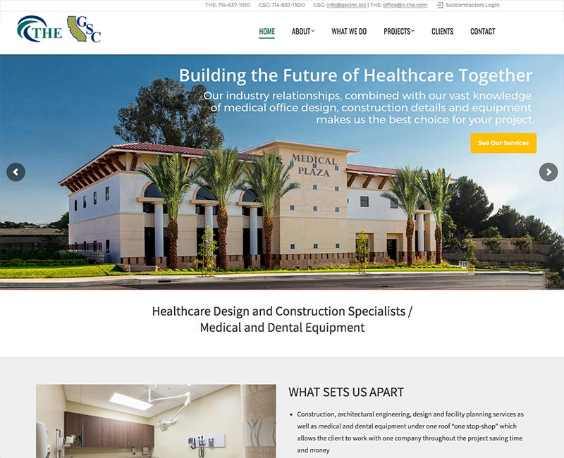 Construction / Home Improvement Web Sites - Orange County Web ...